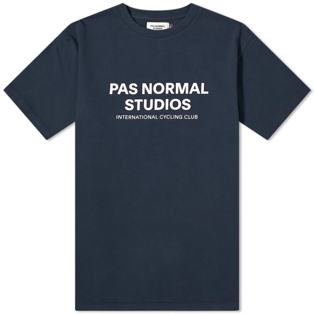 Pas Normal Studios Logo Tee - Navy & White