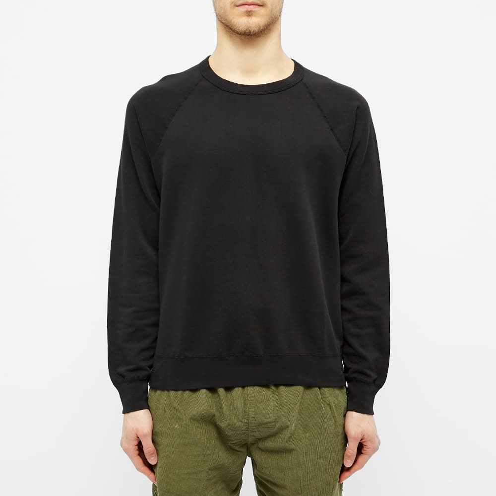 Save Khaki Fleece Crew Sweat - Black