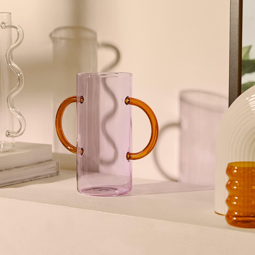 Sophie Lou Jacobsen Handle Vase - Purple & Amber