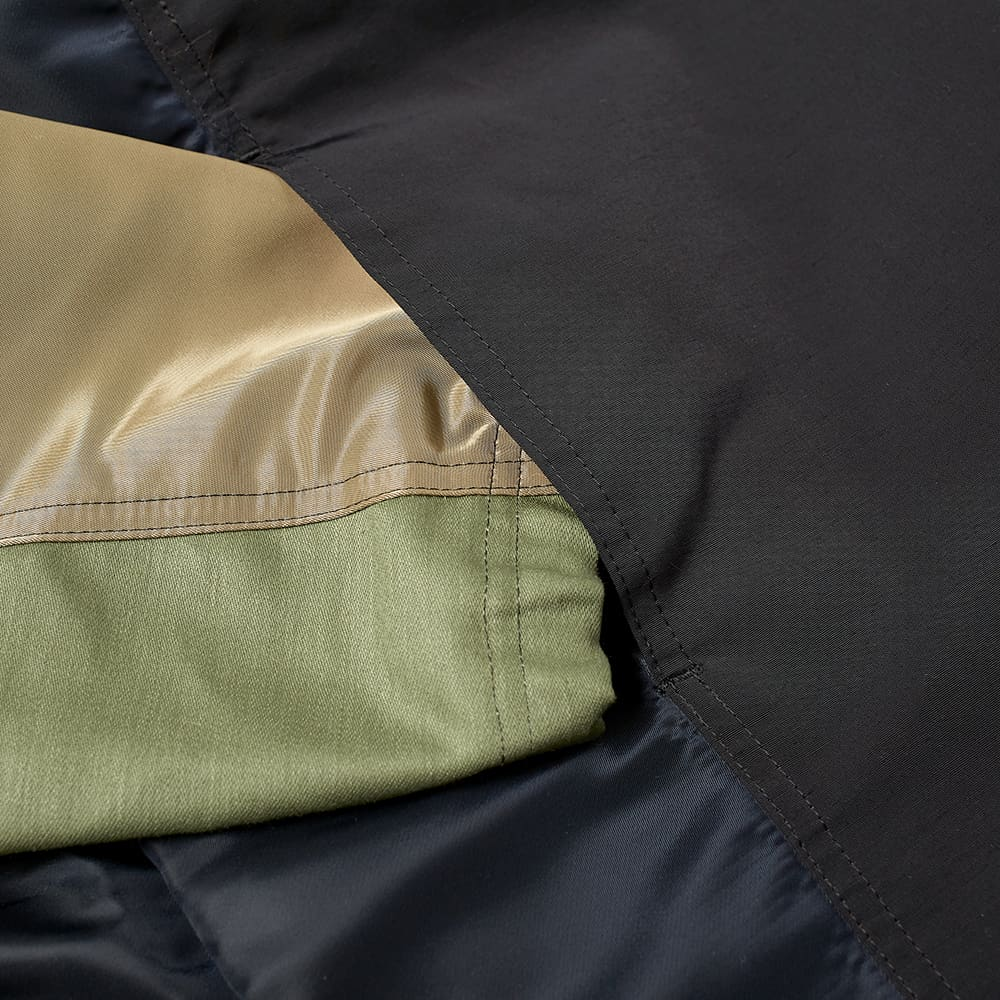 SOPHNET. Hooded Half Zip Anorak - Khaki