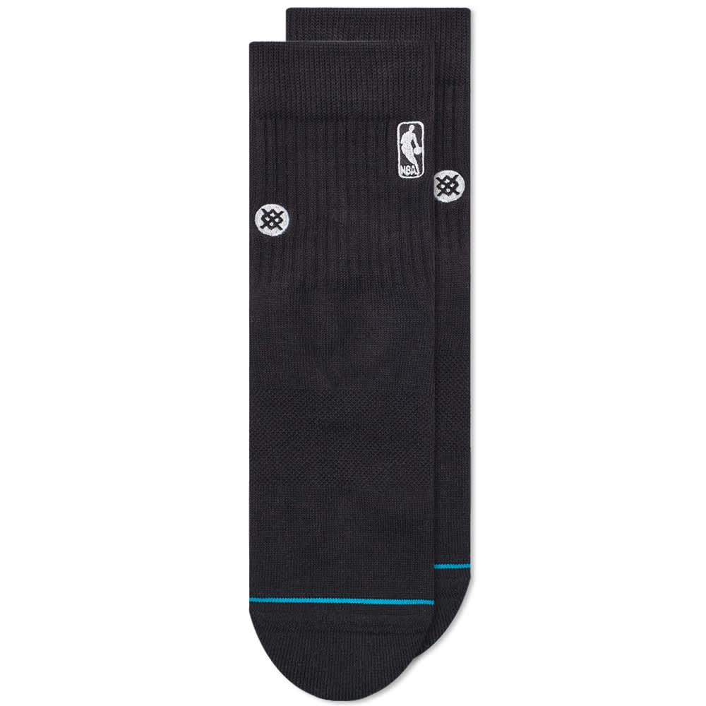 Stance NBA Logoman Quarter Length Sock - Black