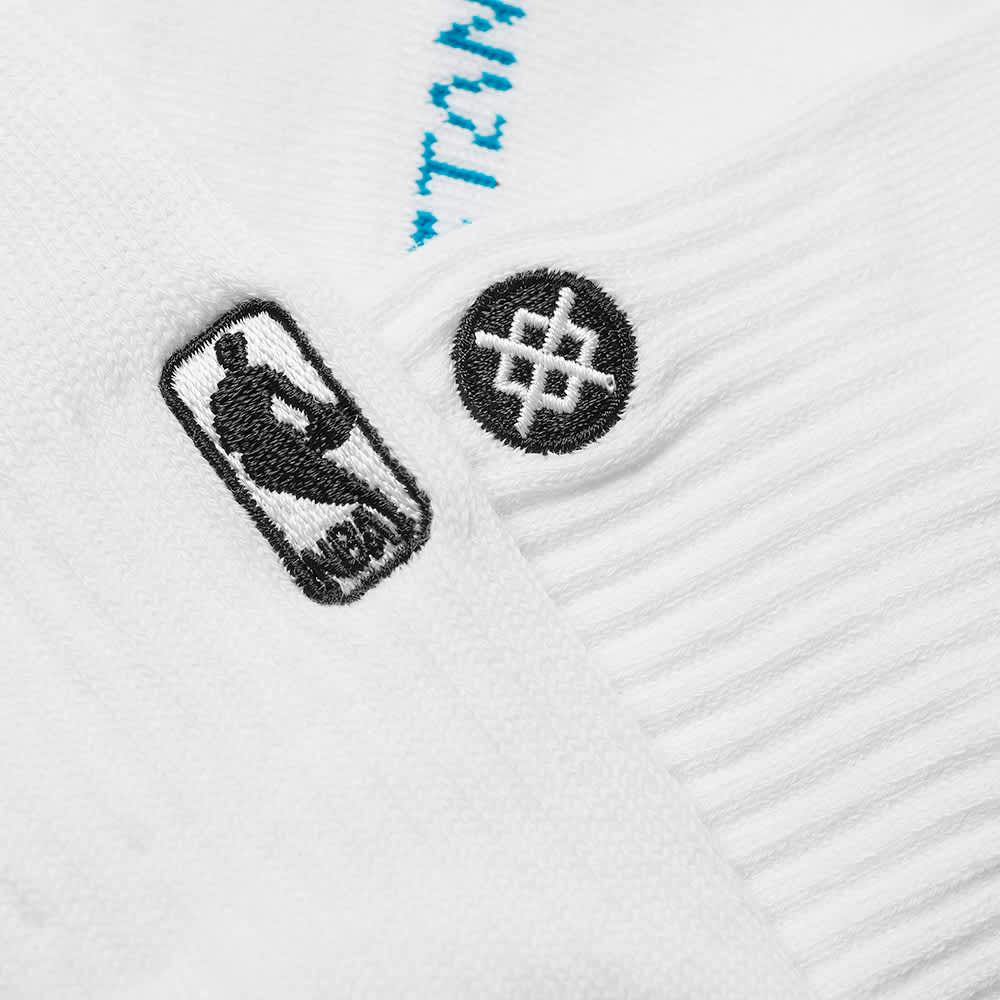 Stance NBA Logoman Quarter Length Sock - White