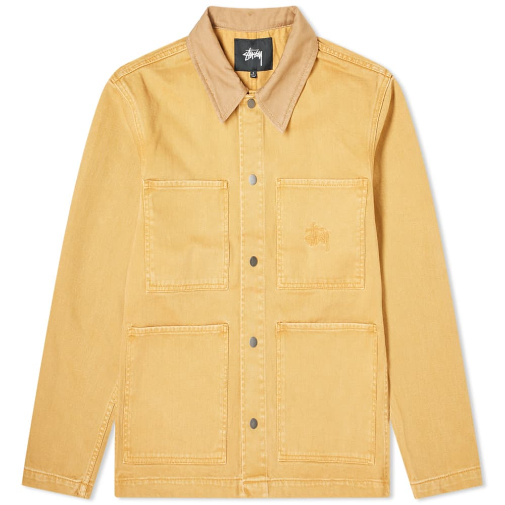 Stussy Heavy Wash Chore Jacket - Gold
