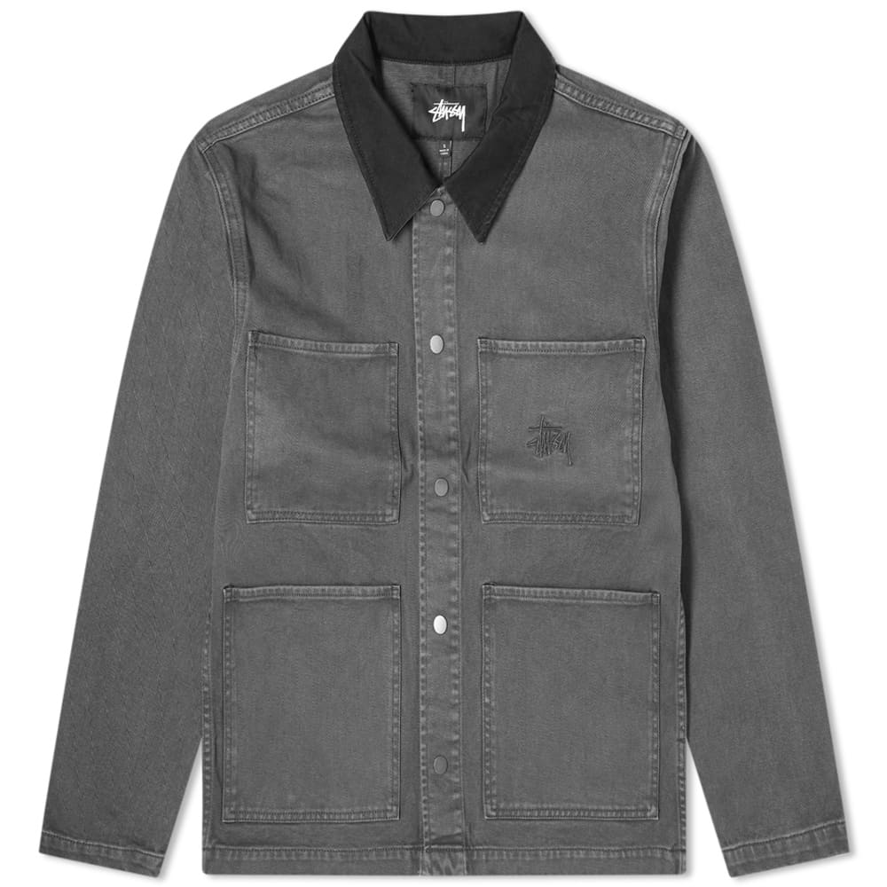 Stussy Heavy Wash Chore Jacket - Grey