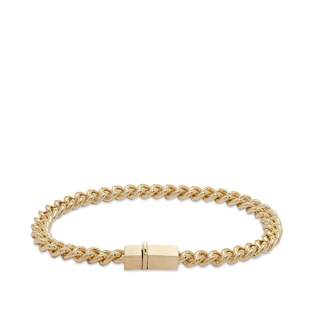 """Tom Wood Rounded Curb Thick Bracelet 7.7"""" - 9k Gold"""