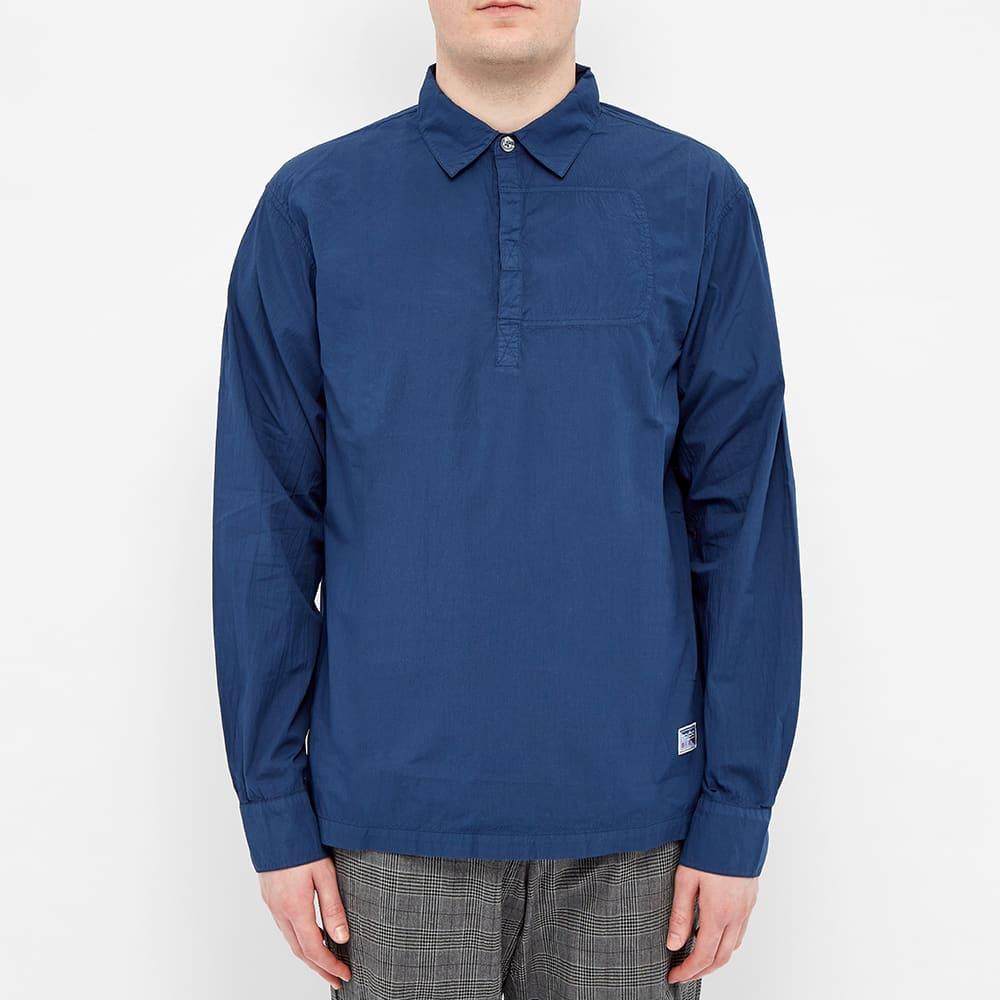Très Bien Seersucker Rugby Shirt - Blue