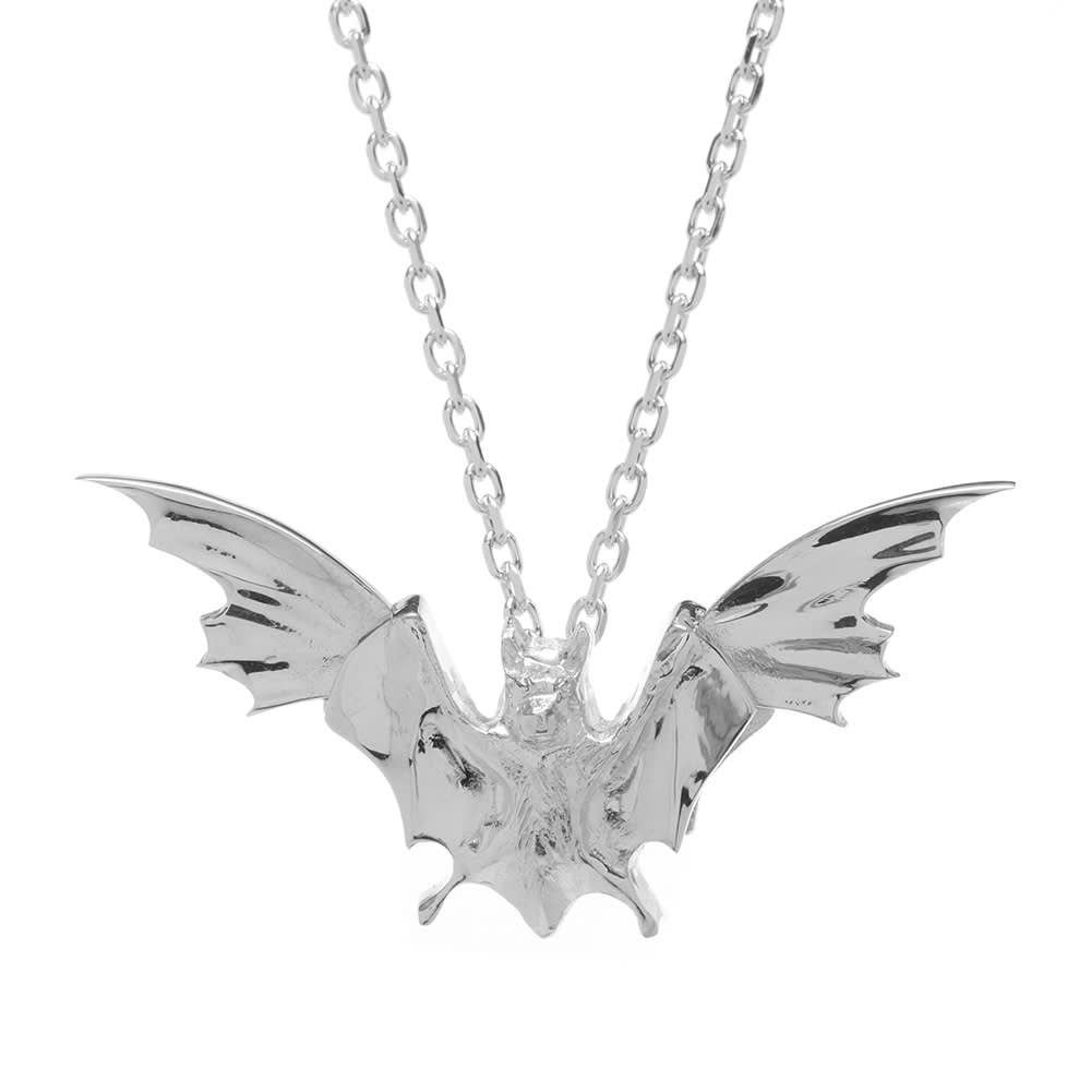Undercover Bat Necklace - Silver