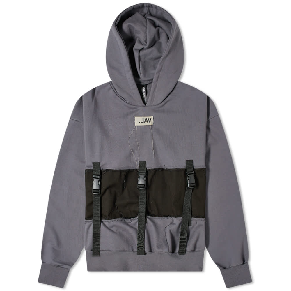Val Kristopher Strap Pull Up Popover Hoody