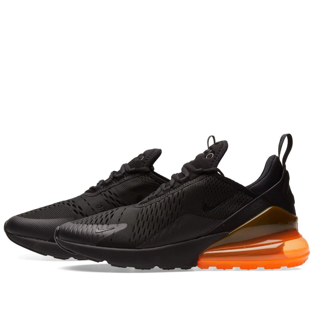 c0caea33b6e98 Nike Air Max 270 Black   Total Orange
