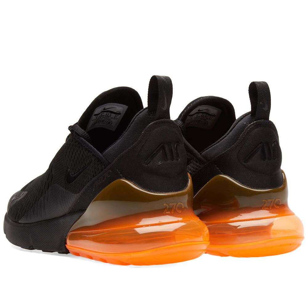 newest a1fd8 8fb68 Nike Air Max 270 Black  Total Orange  END.