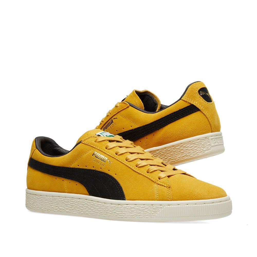 7a21fd977c293c Puma Suede Classic Archive Mineral Yellow   Puma Black