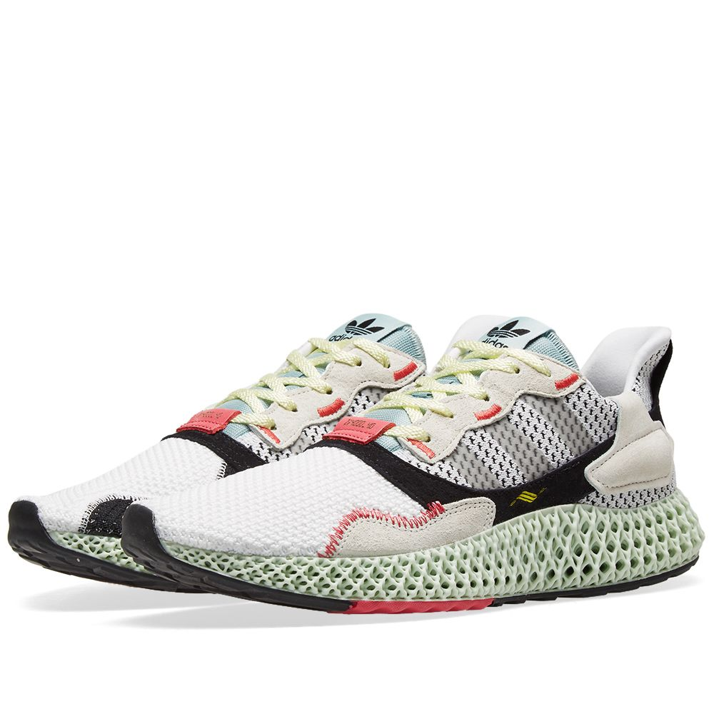 quality design 17b68 9951a Adidas Consortium ZX 4000 4D. White, Grey Two  Green. AU475. Plus Free  Shipping. image