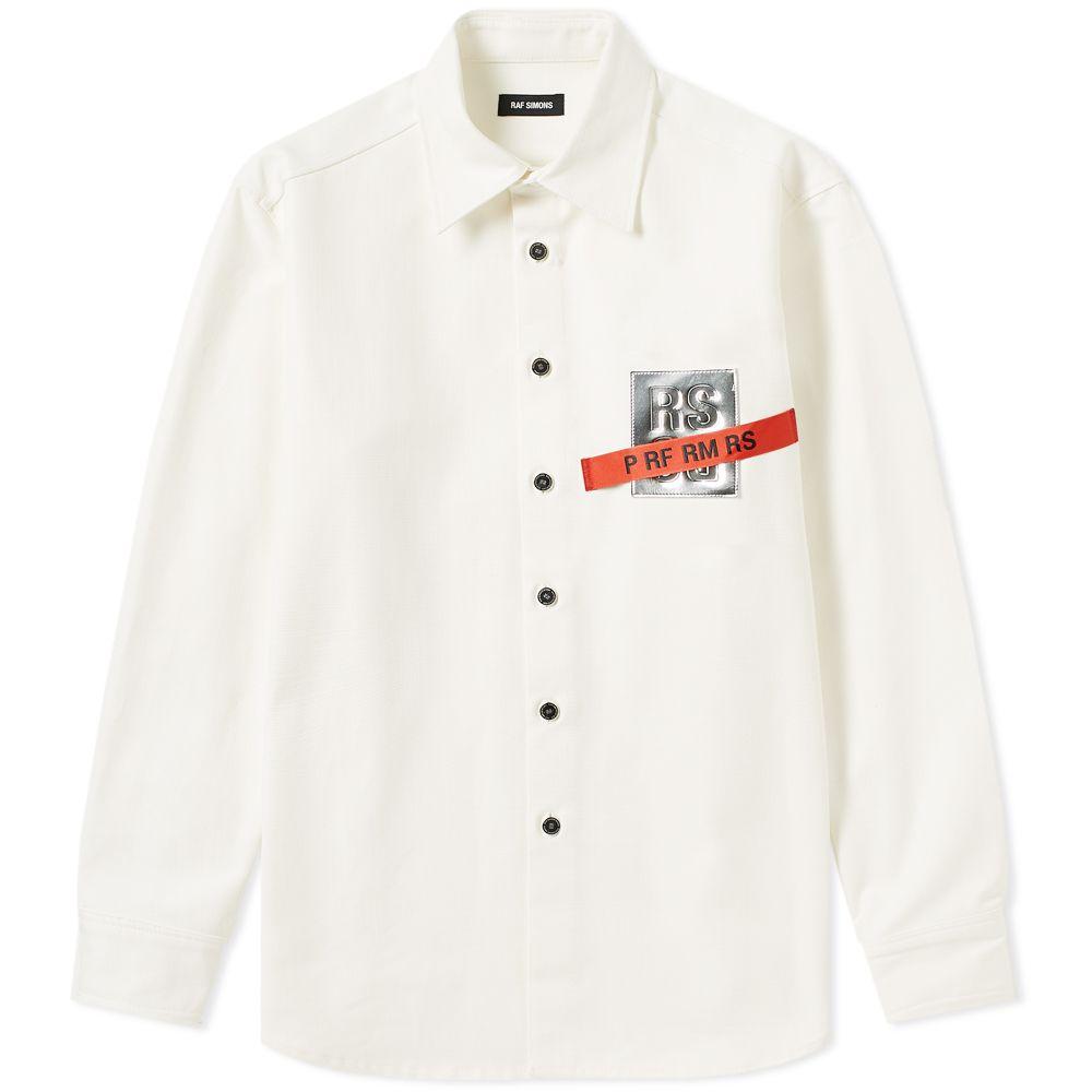 a036ea8d65 homeRaf Simons Tape and Patch Denim Shirt. image. image. image. image.  image. image. image