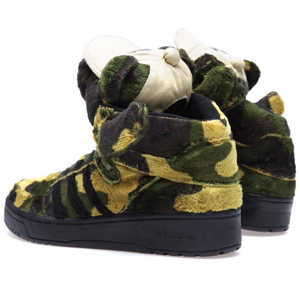 fe9dd9ac3f08 Adidas ObyO x Jeremy Scott Camo Bear Earth Green
