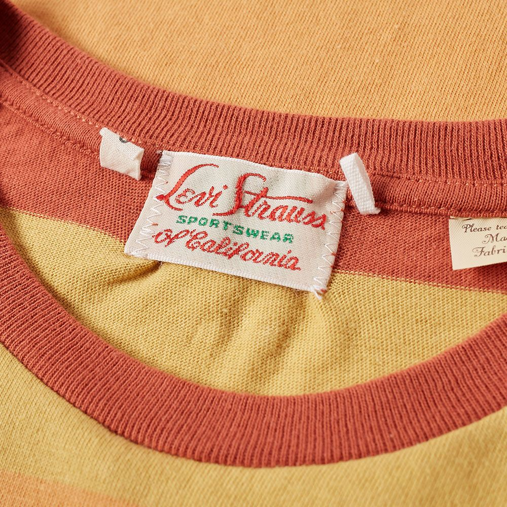 f7296ccd Levi's Vintage Clothing 1940s Stripe Pocket Tee Orange | END.