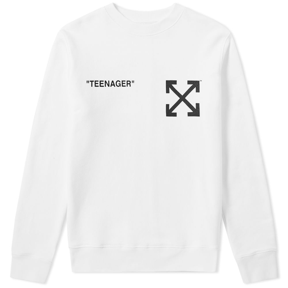 Off White Flamed Bart Slim Crew Sweat by Off White