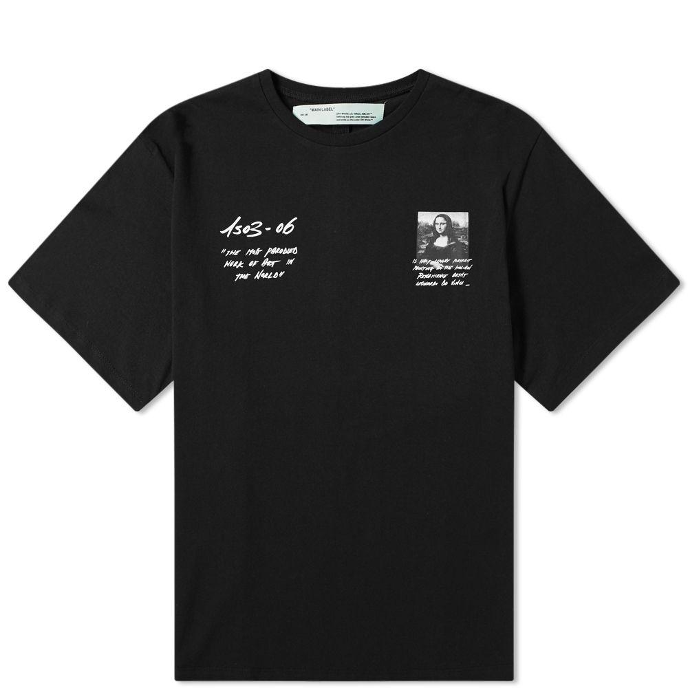 8cdeb4ce1164 Off-White Mona Lisa Oversized Tee Black