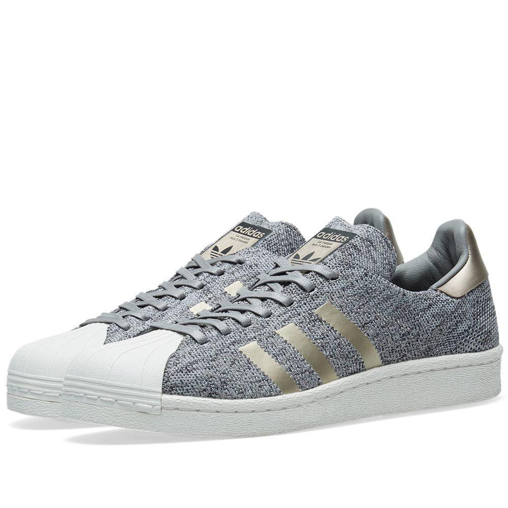 9d1ba261bb44 Adidas Superstar Boost Primeknit  Noble Metals  Solid Grey