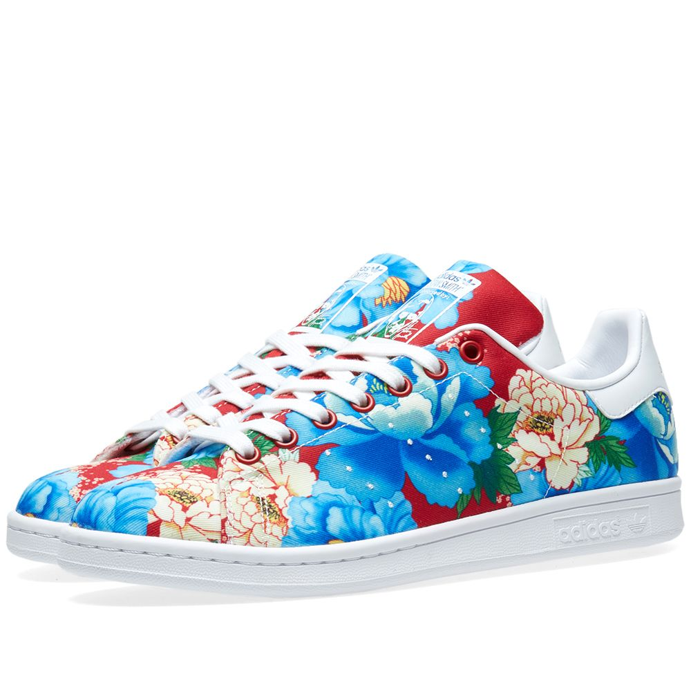 5b6fa3e268db1 Adidas Women s Stan Smith Floral W Powder Red   White
