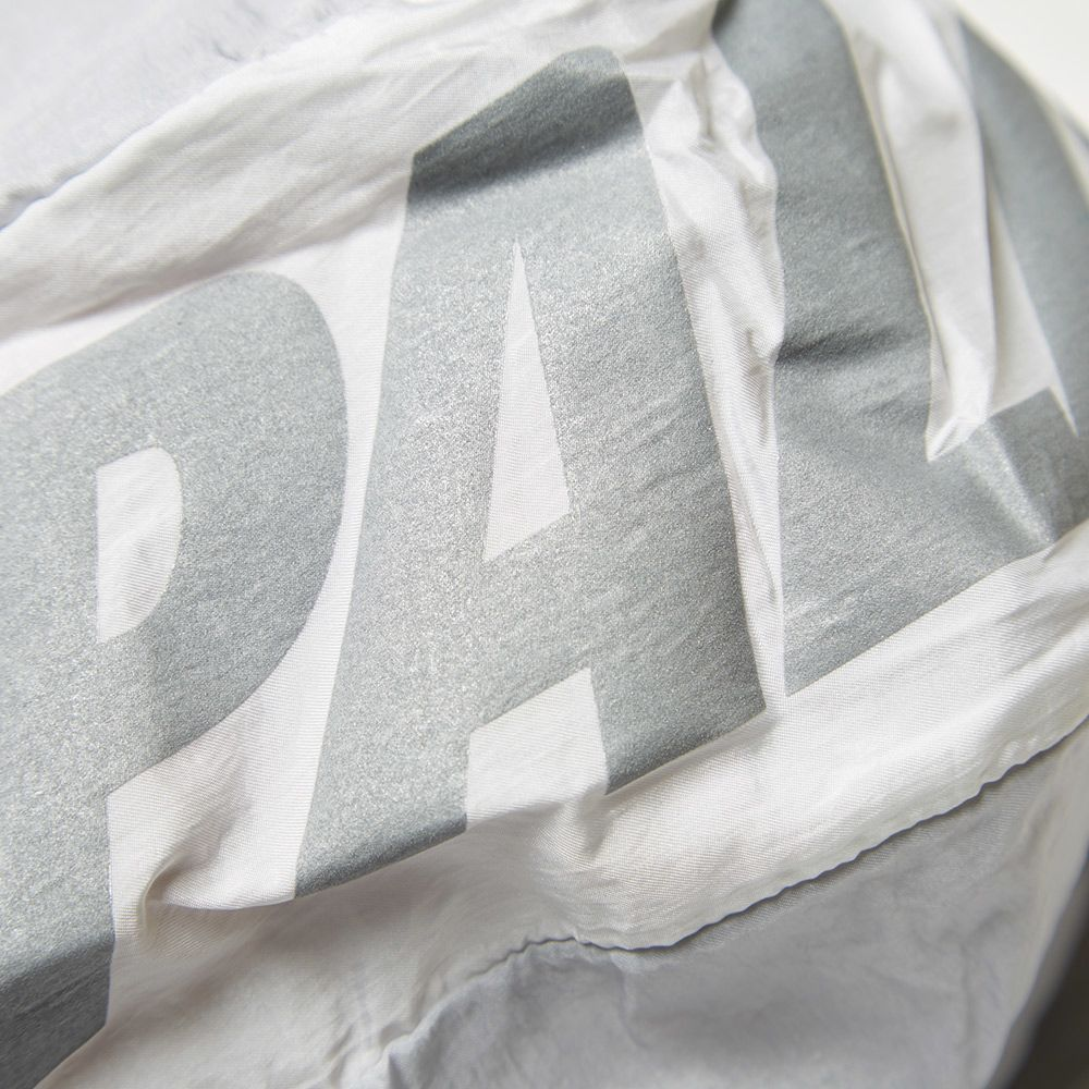 Adidas x Palace Packable Windbreaker 1. Solid Grey   White. S 239. image.  image. image d1bcaf986
