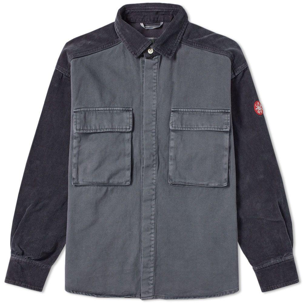 Cav Empt Big Cord Twill Overshirt. Charcoal. HK 2 62f09282924e