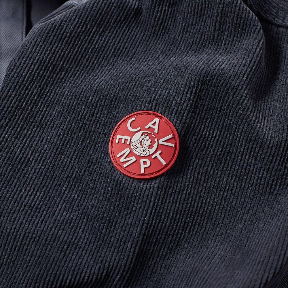 Cav Empt Big Cord Twill Overshirt Charcoal  a4f1662c052d