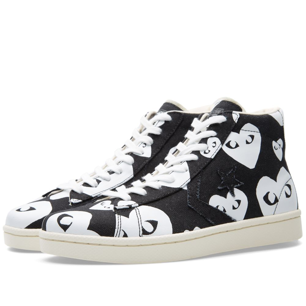 d4a7a0825b88aa Comme des Garcons Play x Converse Pro Leather Hi Black