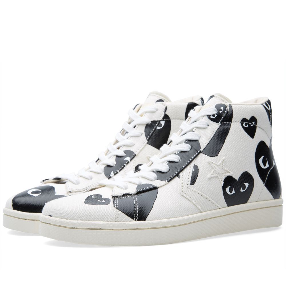 479af8cb123 Comme des Garcons Play x Converse Pro Leather Hi White