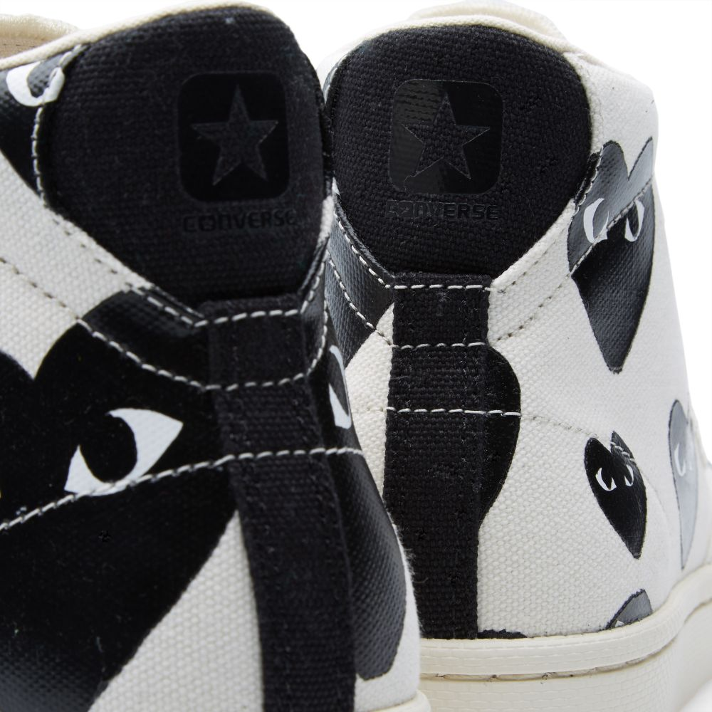 4598bcfc8dbd24 Comme des Garcons Play x Converse Pro Leather Hi White