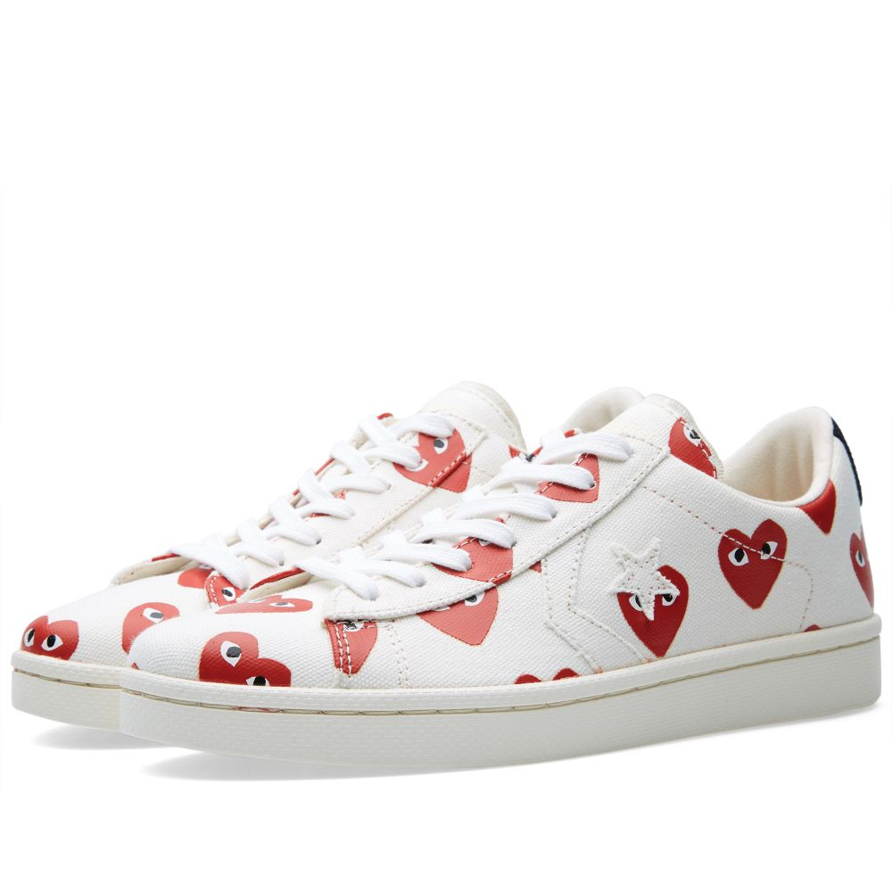 302f0c63ae09 Comme des Garcons Play x Converse Pro Leather Low White