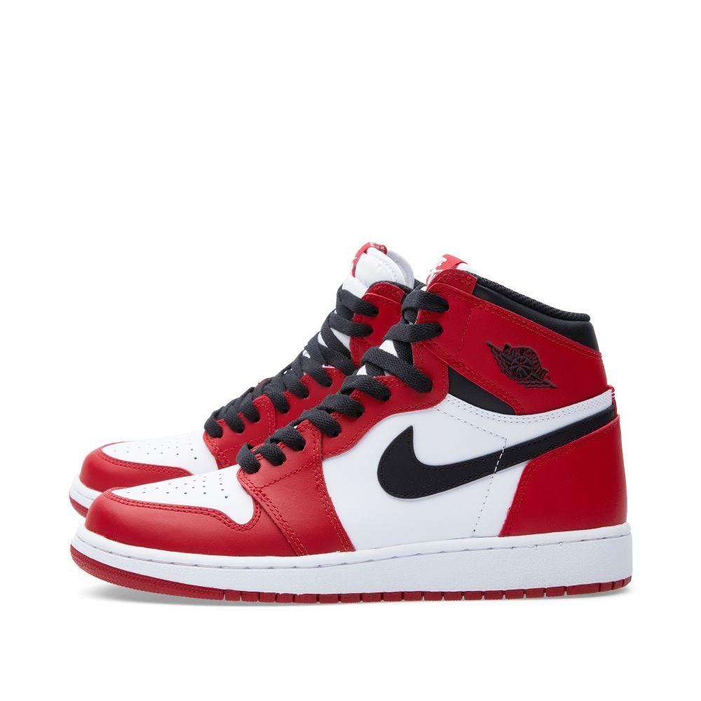 Nike Air Jordan 1 Retro High OG BG  Varsity Red  White 0388a70010ee