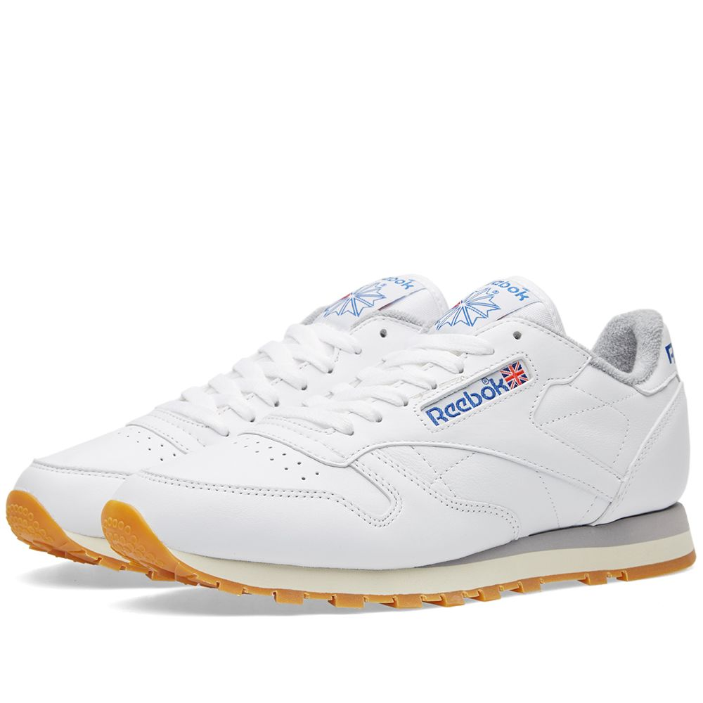 efd8baaf6b6 Reebok Classic Leather R12 White   Collegiate Navy