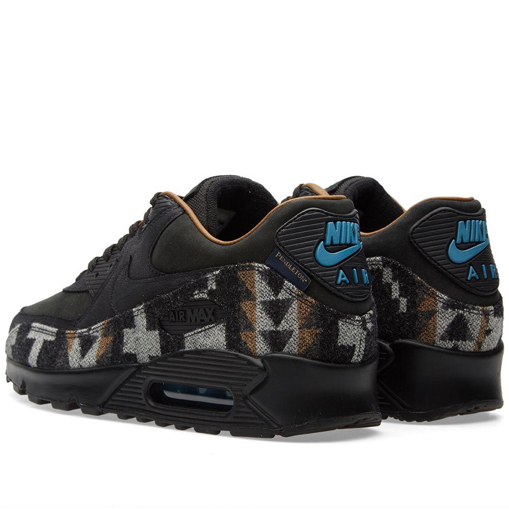 95a4993376 Nike x Pendleton Air Max 90 QS Black & Ale Brown   END.