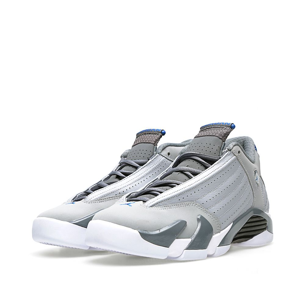 new product ba933 797f5 Nike Air Jordan XIV Retro BG  Sport Blue  Wolf Grey   Sport Blue   END.