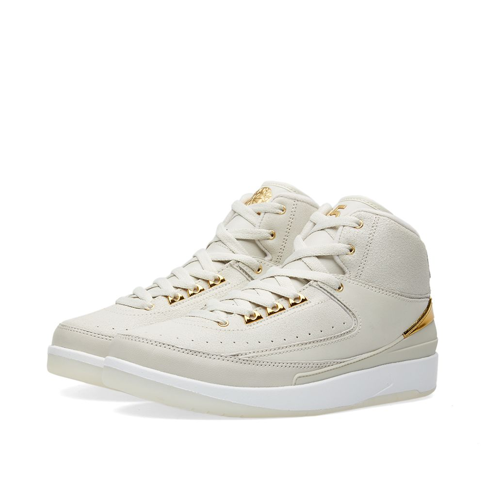 584cf85a932389 Nike Air Jordan 2 Retro Q54 BG Light Bone   Metallic Gold