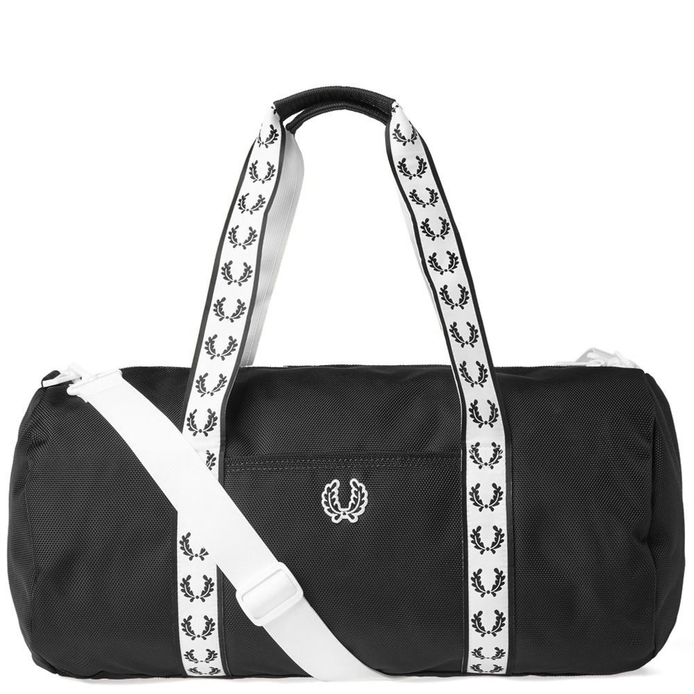 4ebef1817160 Fred Perry Track Barrel Bag Black