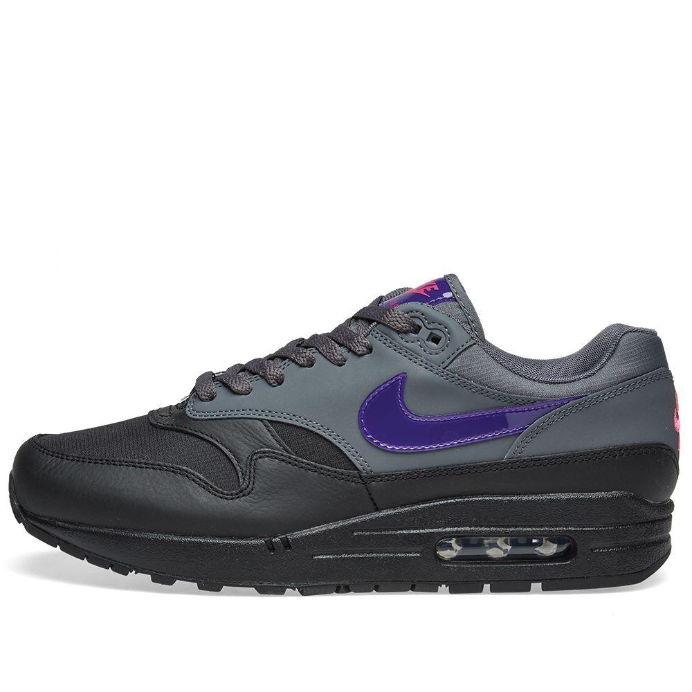 timeless design 3de8a 16926 Nike Air Max 1 Dark Grey, Purple   Pink   END.