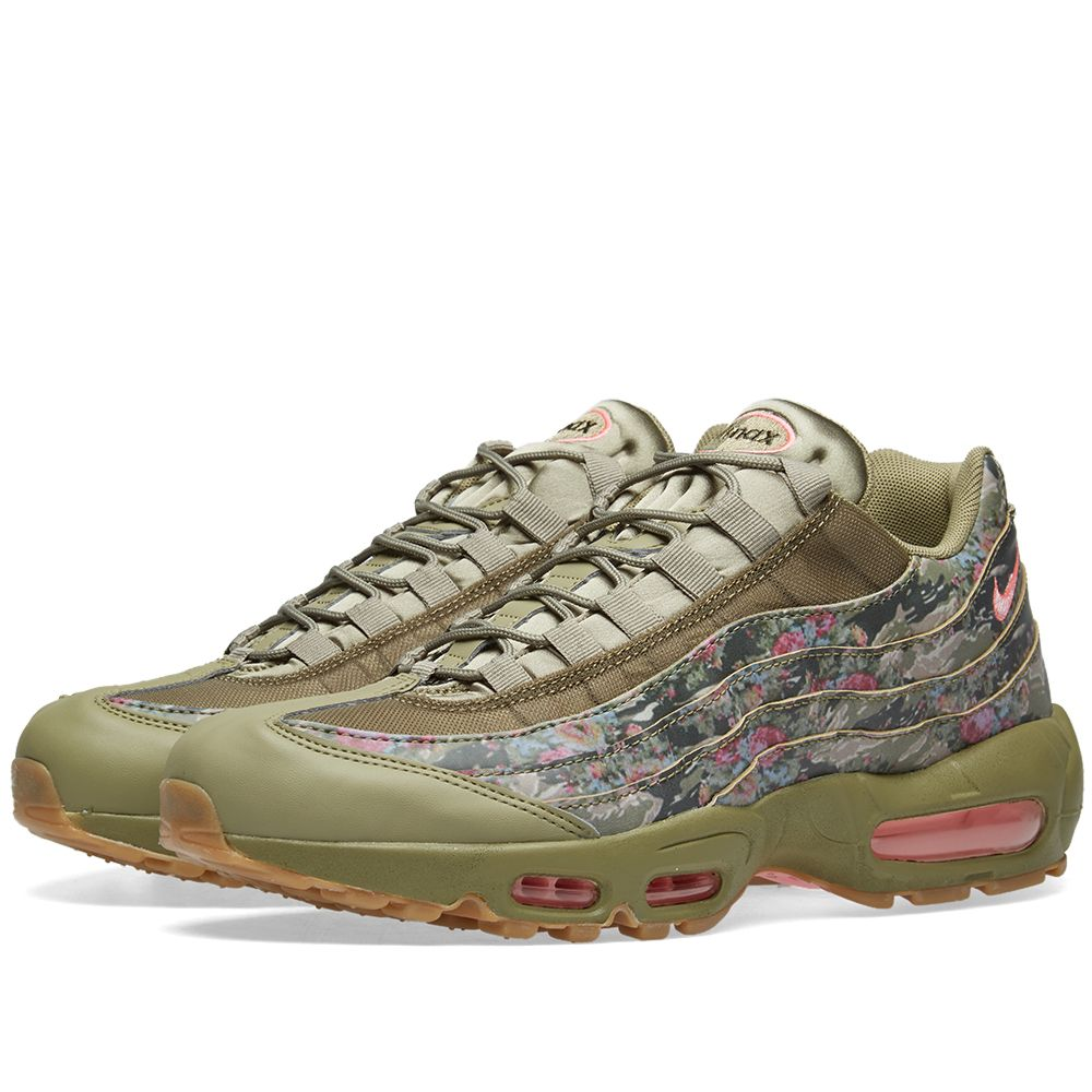 cd0787d083faf8 Nike Air Max 95 W Neutral Olive   Arctic Punch