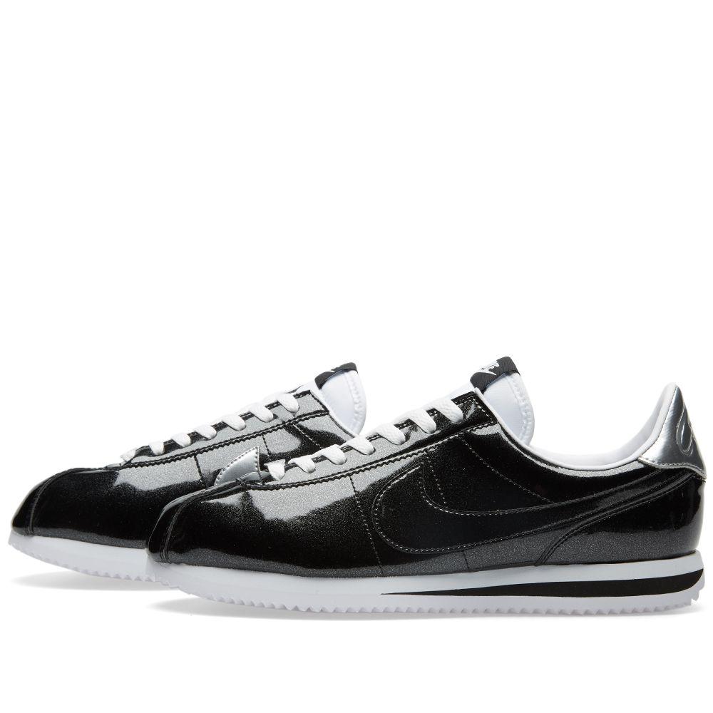 size 40 20aa3 cd16b Nike Cortez Basic Premium QS. Black, White   Silver. AU 119 AU 45. image