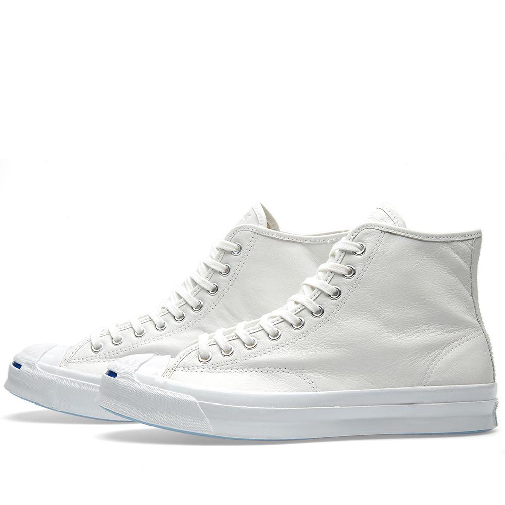 8f485534042118 Converse Jack Purcell Signature Hi Premium White