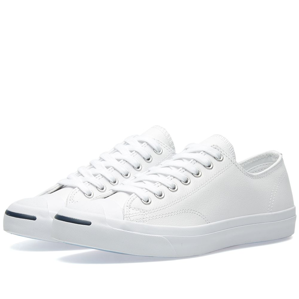 70e99dc272de Converse Jack Purcell Leather Ox White   Navy