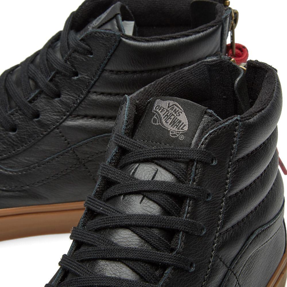 6793635efaf2d7 Vans Sk8-Hi Reissue Zip Black   Gum