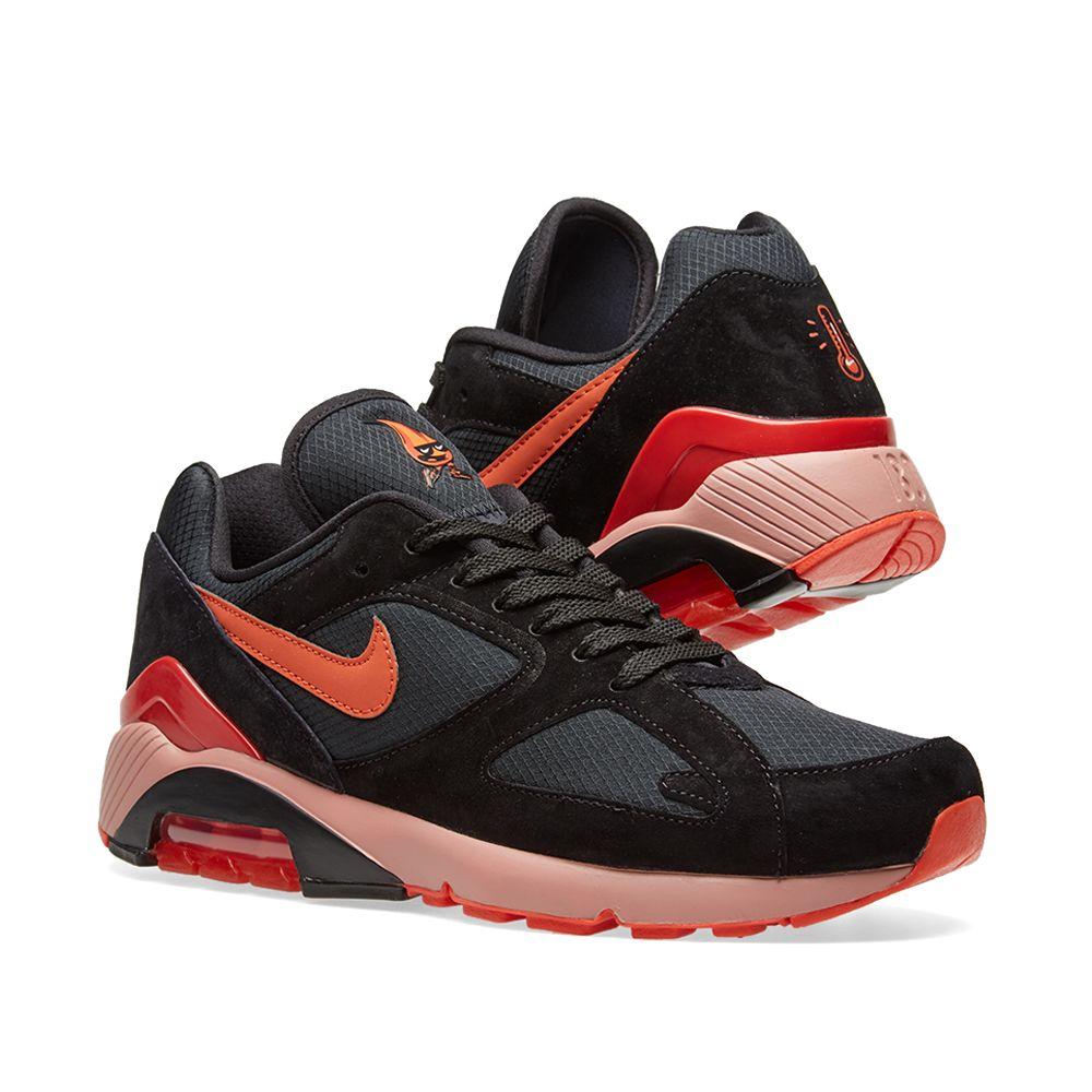 new product 8cc2c 6cda0 Nike Air Max 180 Black  Team Orange  END.
