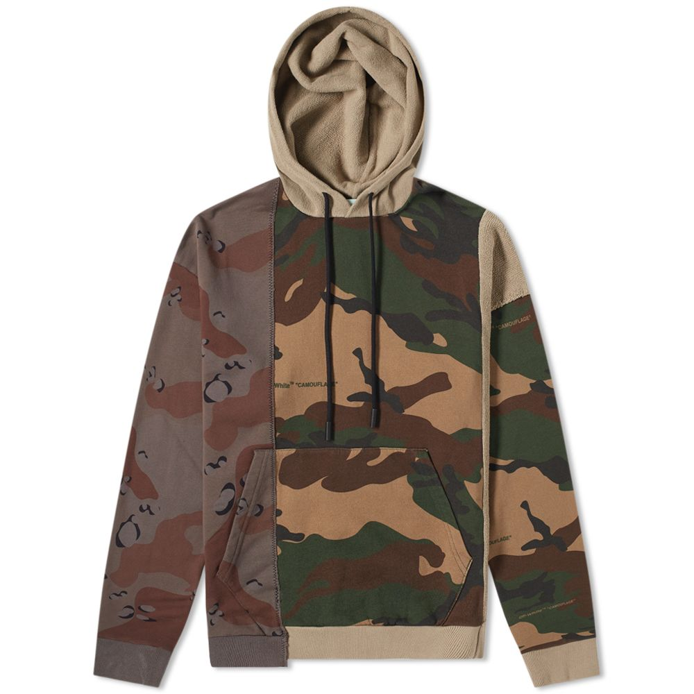 Off White Reconstructed Camo Popover Hoody by Off White
