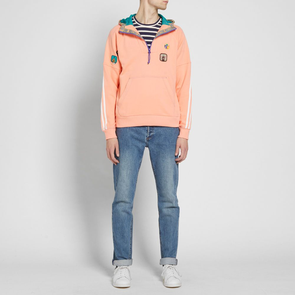 new arrival d0cd6 901e2 Adidas x Pharrell HU H Hooded Sweat. Sunglow  EQT Green