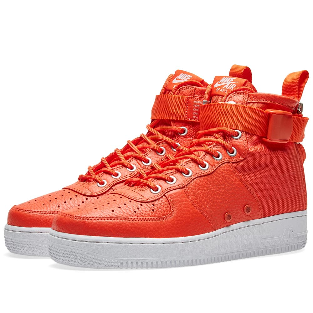 93c400aaaae29f Nike SF Air Force 1 Mid Team Orange   Black
