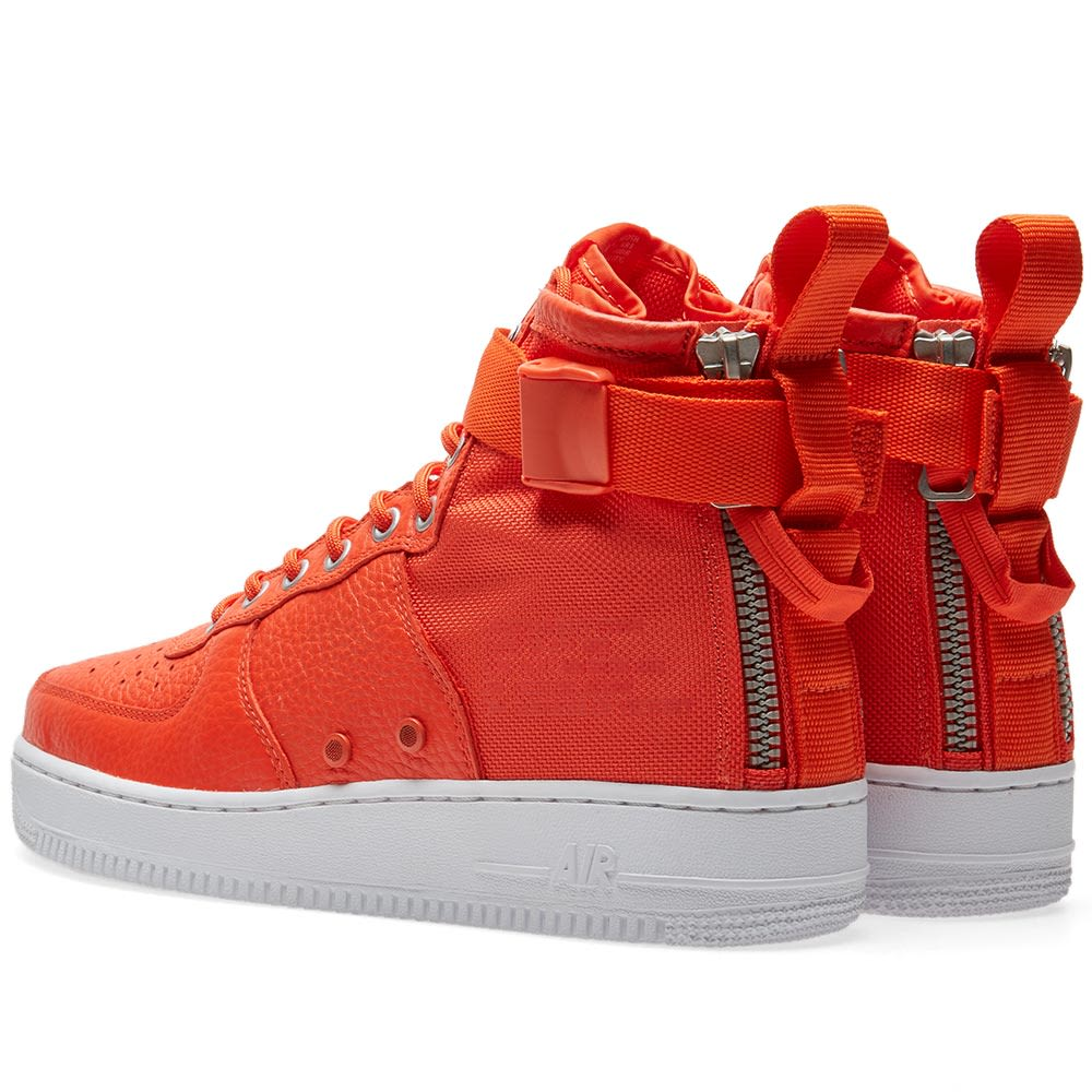 69c86cdf0ba Nike SF Air Force 1 Mid Team Orange   Black
