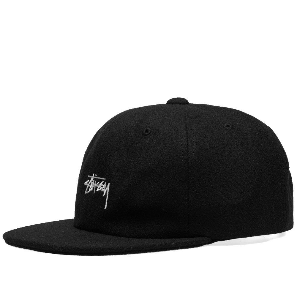 Stussy Melton Wool Strapback Cap Black  e7884b201