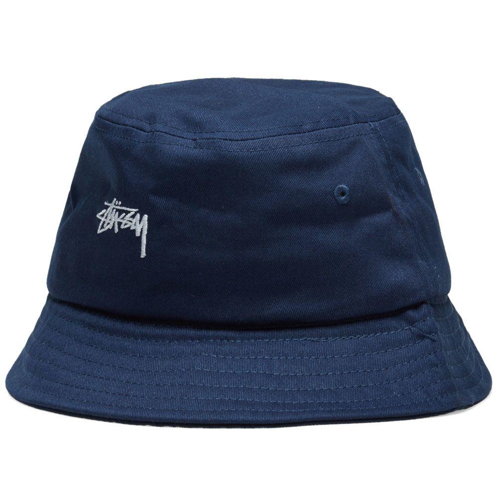Stussy Stock Bucket Hat Navy  a0e0fba8e06
