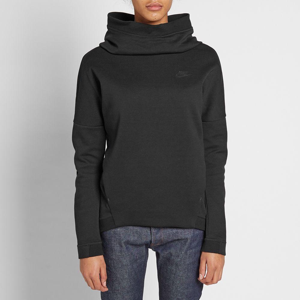 b4ce63d6c203 Nike Women s Tech Fleece Popover Hoody Black